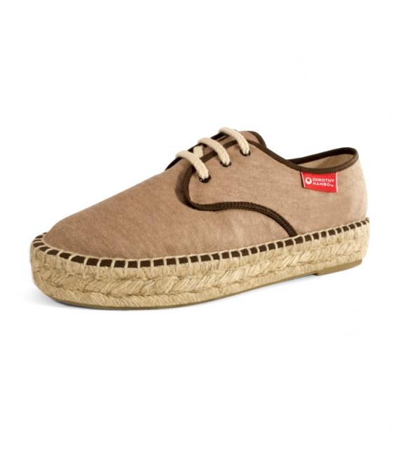 Jute blucher sandals, esparto espadrilles for woman