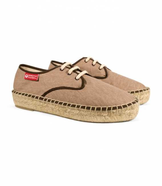 Esparto blucher sandals, jute espadrilles for woman