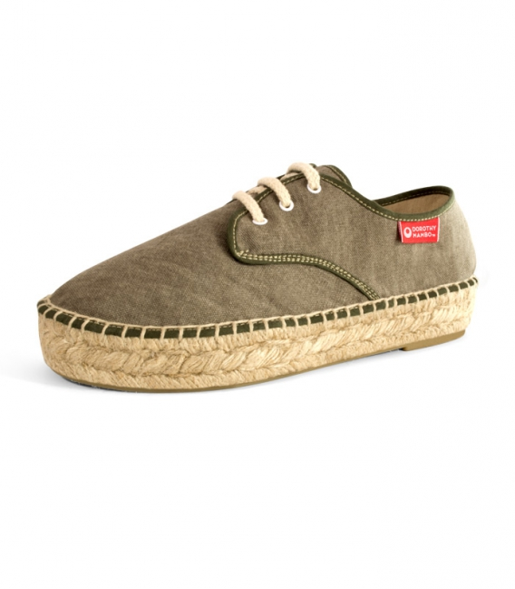 Jute blucher sandals, esparto espadrilles for woman