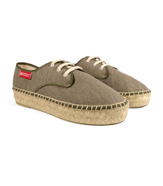Esparto blucher sandals, jute espadrilles for woman