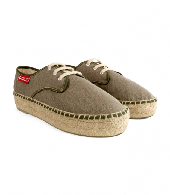 Jute esparto blucher espadrilles for woman handmade in Spain