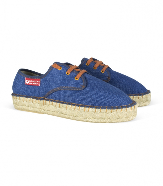 Blue Jeans esparto espadrilles with jute platform for women