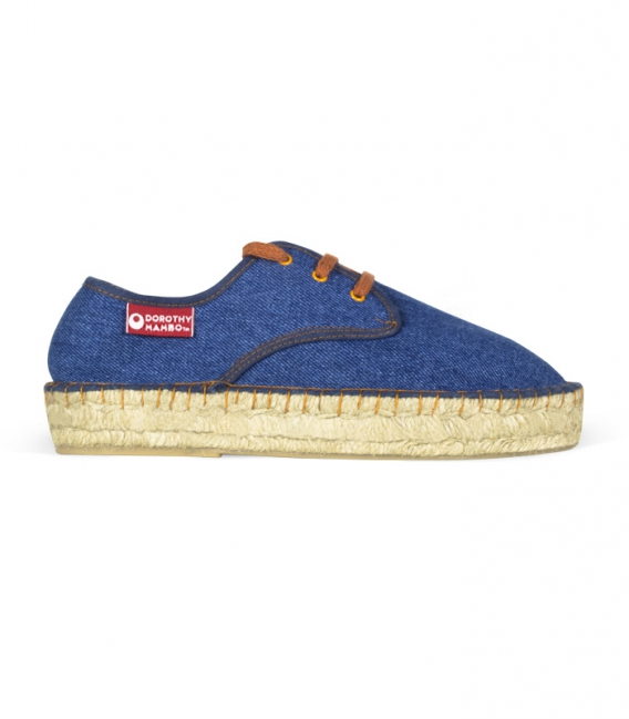 Original blue jeans platform esparto espadrilles for women online