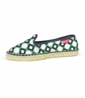 Handmade moccasins espadrilles shoes for women GREEN RETRO