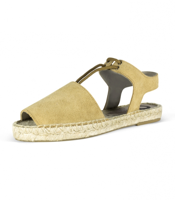 Hand-sewn Menorcan espadrilles with esparto sole for women