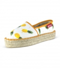 Jute platform espadrilles for women HANANAS