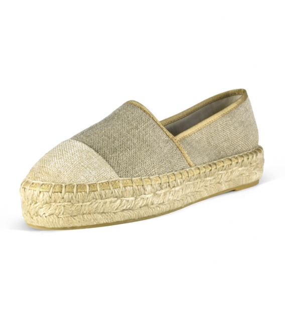 Handmade double esparto platform sole camping espadrilles for woman
