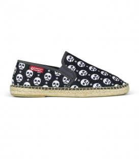 Esparto moccasin style espadrilles for men in black, white and white colours