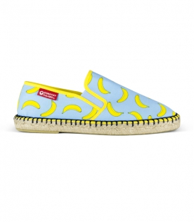 Esparto moccasin espadrilles for men in green, blue and yellow colours