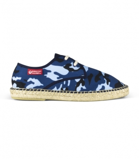 Men's lace up espadrilles with matching military print