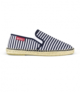 Canvas navy esparto espadrilles for men in white and blue colours