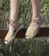 Alpargatas menorquinas abarcas para mujer con suela de esparto cosidas a mano en España