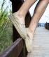 Alpargatas camping con suela doble de plataforma de esparto para mujer cosidas a mano en España