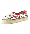 Jute platform espadrilles for women CHERRIES