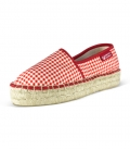 Jute platform espadrilles for women PIN UP