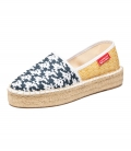 Jute platform espadrilles for women MARINE CLOUDS
