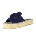 Flat leather esparto espadrilles shoes for women MARRAKECH