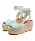 Heels espadrilles sandals for women MILOS BLUE