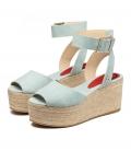 Sandalias con plataforma para mujer MILOS BLUE