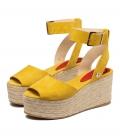 Sandalias con plataforma para mujer MILOS MUSTARD