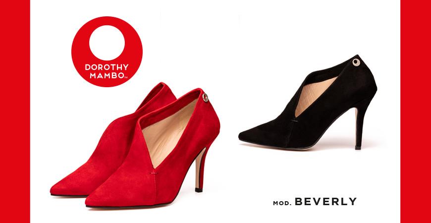 Zapatos salón para señora de piel serraje afelpada de alta calidad